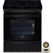 "Kenmore Elite 30"" Slide-In Electric Range w/ Convection -Black at Sears.com"