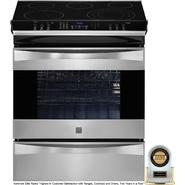 "Kenmore Elite 30"" Slide-In Electric Range - Stainless Steel at Sears.com"