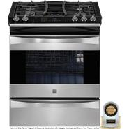 Kenmore Elite 4.2 cu. ft. Slide-In Dual Fuel Range - Stainless Steel at Kenmore.com