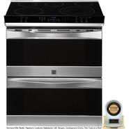 "Kenmore Elite 30"" Double-Oven Slide-In Electric Range w/ Convection - Stainless Steel at Kenmore.com"