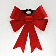 Trimming Traditions 18in x 15in Rigid Two Layer Red Glittered Bow at Kmart.com