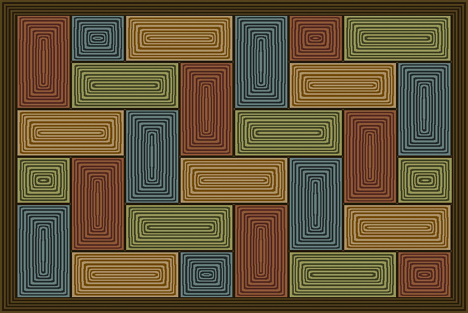 Hook Look 30 x 46 Lima Chocolate Accent Rug