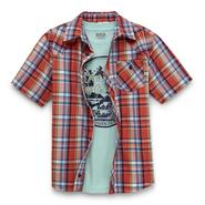 Route 66 Boy's Button-Front Shirt & T-Shirt  - Motorcycle at Kmart.com