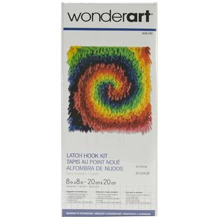 "Wonderart Latch Hook Kit 8""X8""-Twirl"