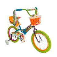 Titan Girl's Flower Power Princess Multi-Color 16-Inch BMX Bike with Training Wheels, Doll Seat, Basket and Streamers. at Sears.com