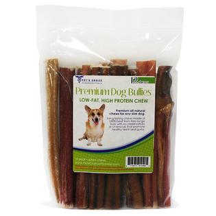 dog bully sticks 6 premium all natural dog pizzle chews 12 pack. Black Bedroom Furniture Sets. Home Design Ideas
