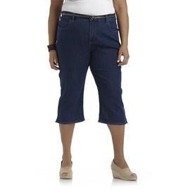 Riders by Lee Women's Plus Classic Denim Capris & Belt at Kmart.com