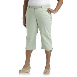 Riders by Lee Women's Plus Colored Twill Capris & Belt at Kmart.com
