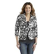 Covington Women's Three-Quarter Sleeve Jacket - Floral at Sears.com