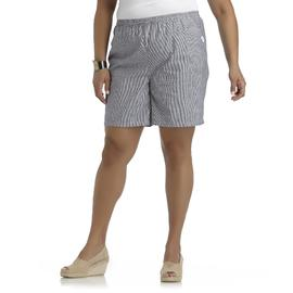Riders by Lee Women's Plus Chambray Skort - Striped at Kmart.com