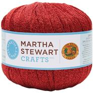 Lion Brand Martha Stewart Glitter Ribbon Yarn-Garnet at Kmart.com
