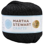 Lion Brand Martha Stewart Glitter Ribbon Yarn-Onyx at Kmart.com