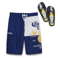 Corona Men's Swim Shorts & Flip-Flops at Kmart.com