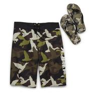 Duck Dynasty Men's Big & Tall Swim Shorts & Flip-Flops at Kmart.com