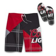 Coors Men's Swim Shorts & Flip-Flops - Coors Light at Kmart.com