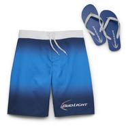 Bud Light Men's Big & Tall Swim Shorts & Flip-Flops - Bud Light at Kmart.com