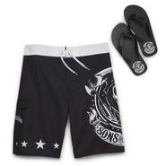 Sons of Anarchy Men's Swim Shorts & Flip-Flops at Kmart.com