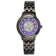 Armitron Ladies Gunmetal-tone with Genuine Crystal Beaded Purple MOP Dial Watch at Kmart.com