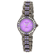 Armitron Ladies Gunmetal- tone Genuine Tanzanite and Clear Crystal Accented Dress Watch at Sears.com