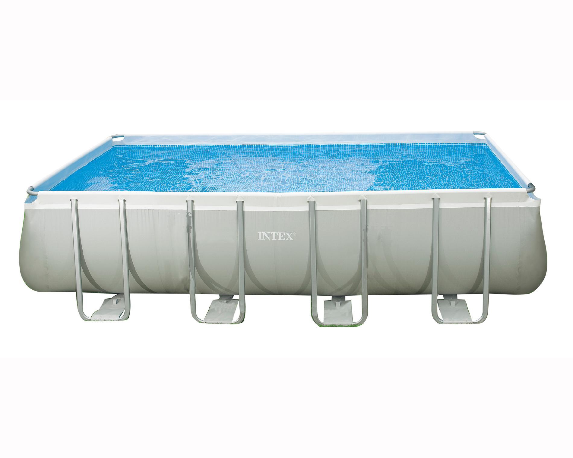 Intex Rectangular Ultra Frame Above Ground Pool Backyard