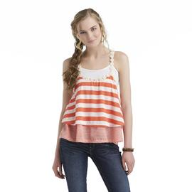 Bongo Junior's Tiered Flyaway Tank Top - Striped at Sears.com