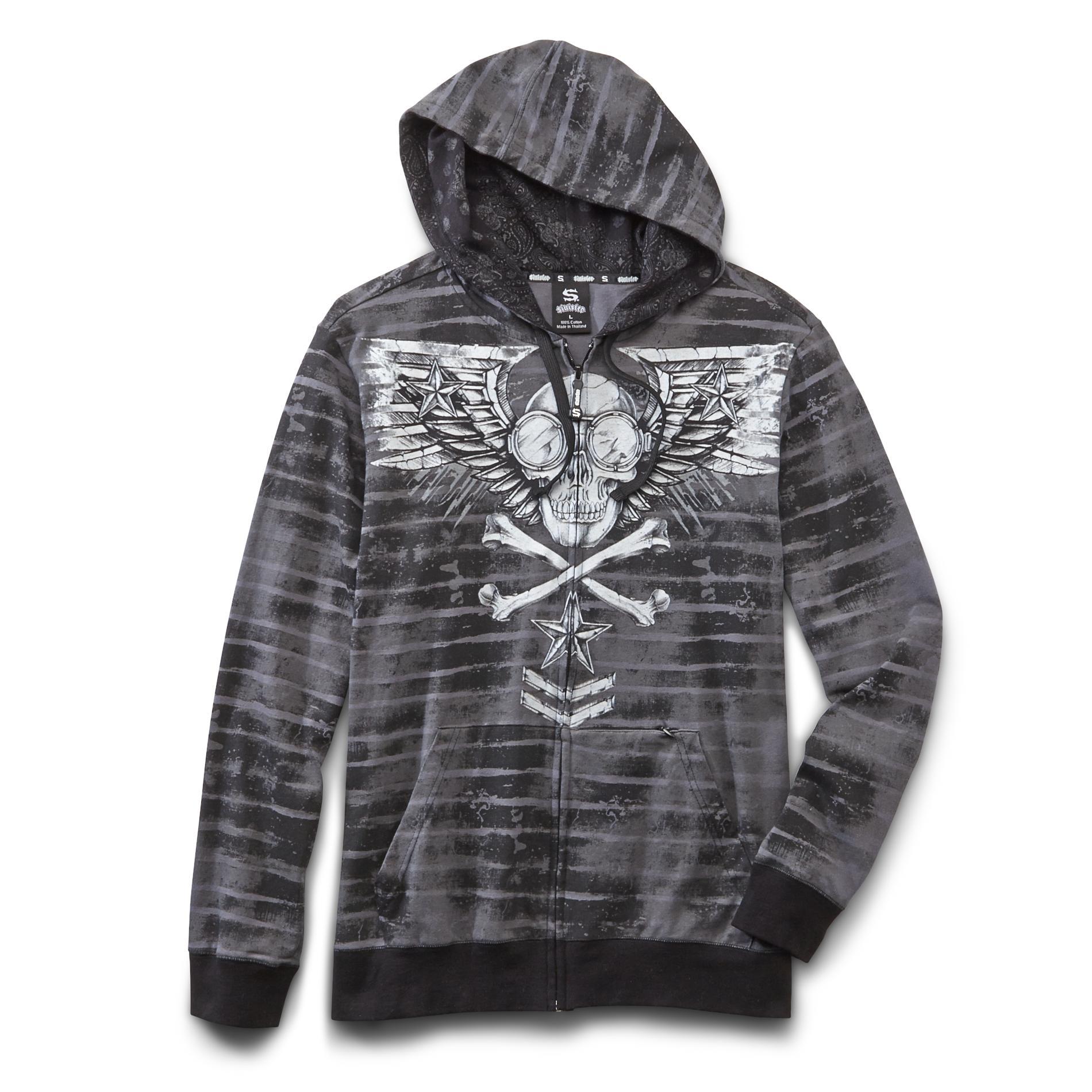 Sinister Men's Hoodie Jacket - Winged Skull at Kmart.com