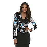 Kardashian Kollection Women's Asymmetrical Moto Jacket - Floral at Sears.com
