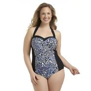 Tropical Escape Women's Plus Halter Swimsuit at Sears.com