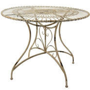 Oriental Furniture Rustic Circular Garden Table - Distressed White at Kmart.com