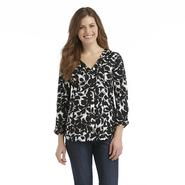 Covington Women's Jersey Knit Blouse - Floral at Sears.com