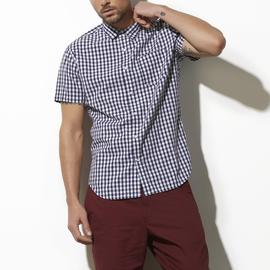Adam Levine Men's Poplin Short-Sleeve Shirt - Mini Checkered at Kmart.com