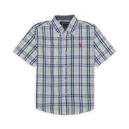 U.S. Polo Assn. Boy's Short-Sleeved Woven Shirt - Plaid at Sears.com