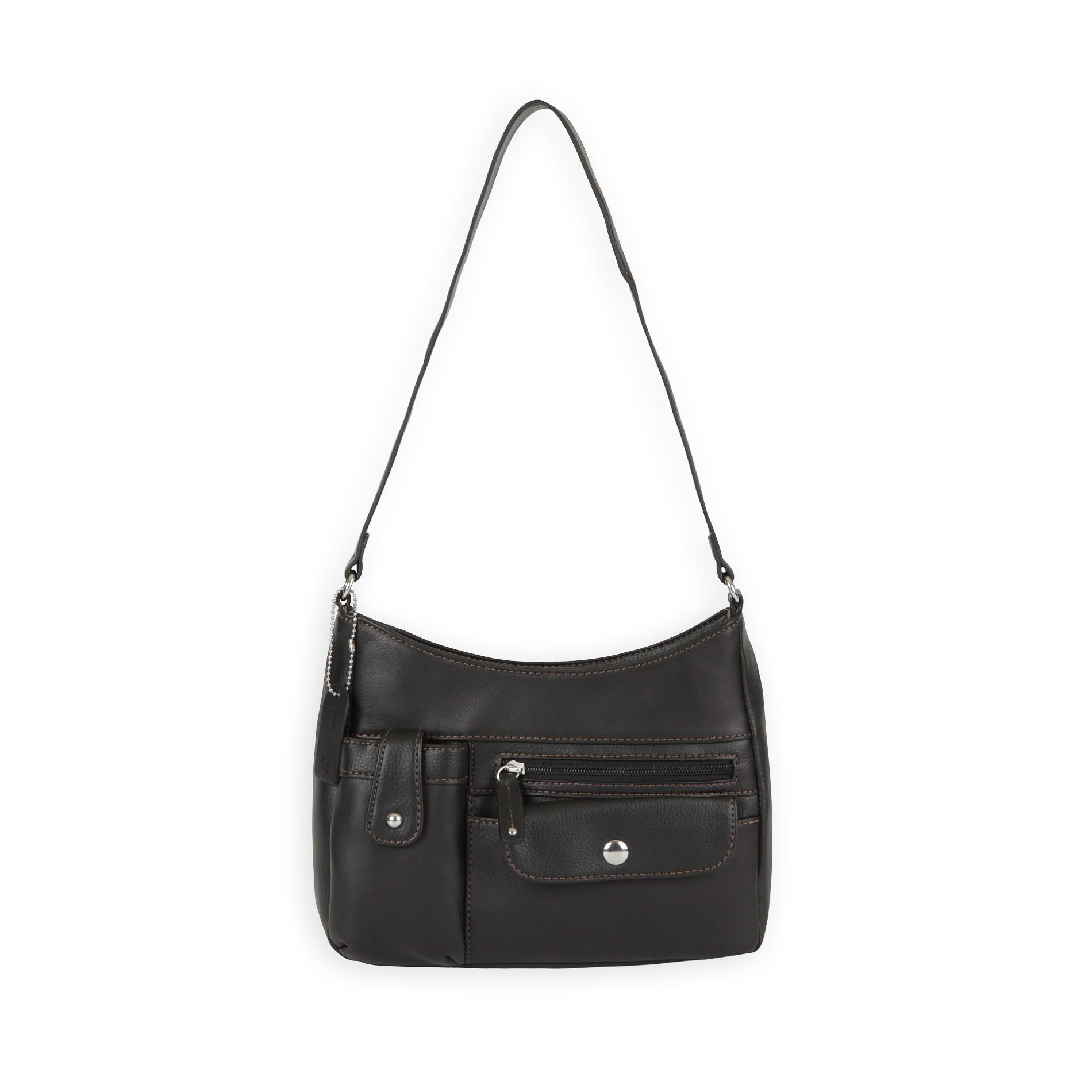 Jaclyn Smith Women's Faux Leather Hobo Bag
