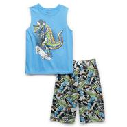 Boy's Pajama Tank Top & Shorts - Dinosaur