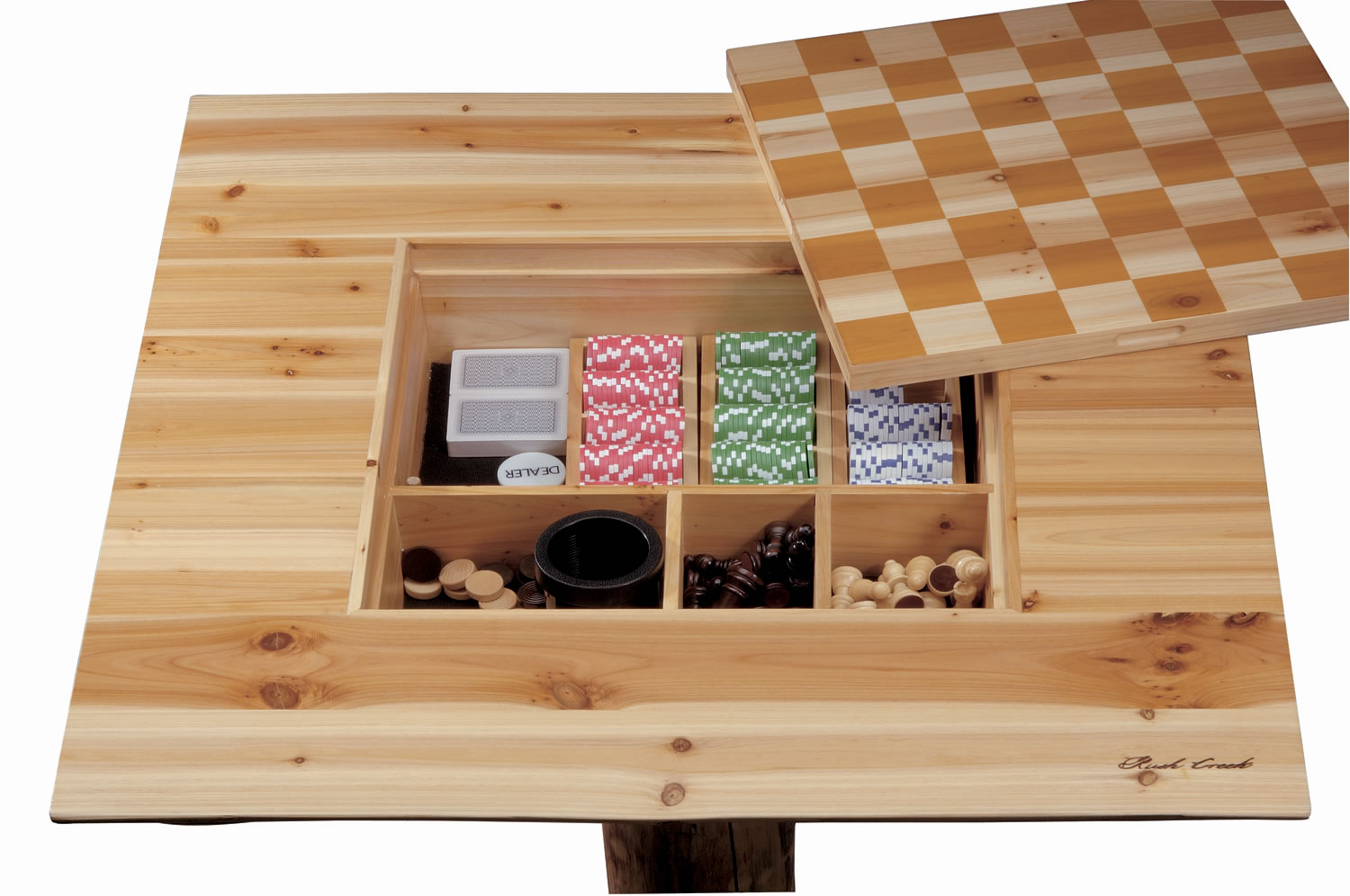Charming Rush Creek Bar Height Pub Table Game Center 2