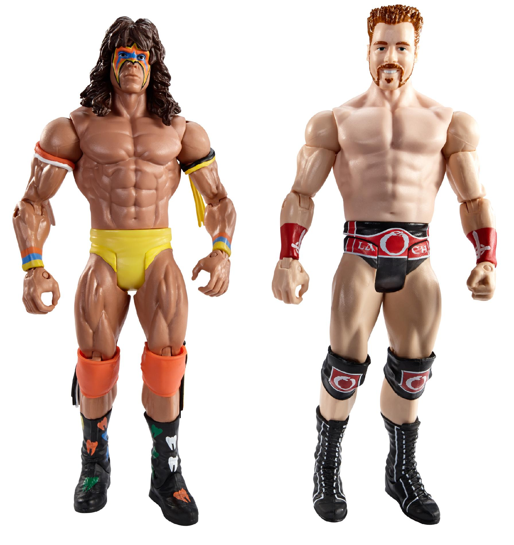 WWE WrestleMania Fantasy Match-Up Ultimate Warrior and Sheamus Action Figure, 2-Pack PartNumber: 004W001414304085P
