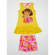 Nickelodeon Dora The Explorer Infant & Toddler Girl's Tunic Top & Shorts - Floral at Sears.com