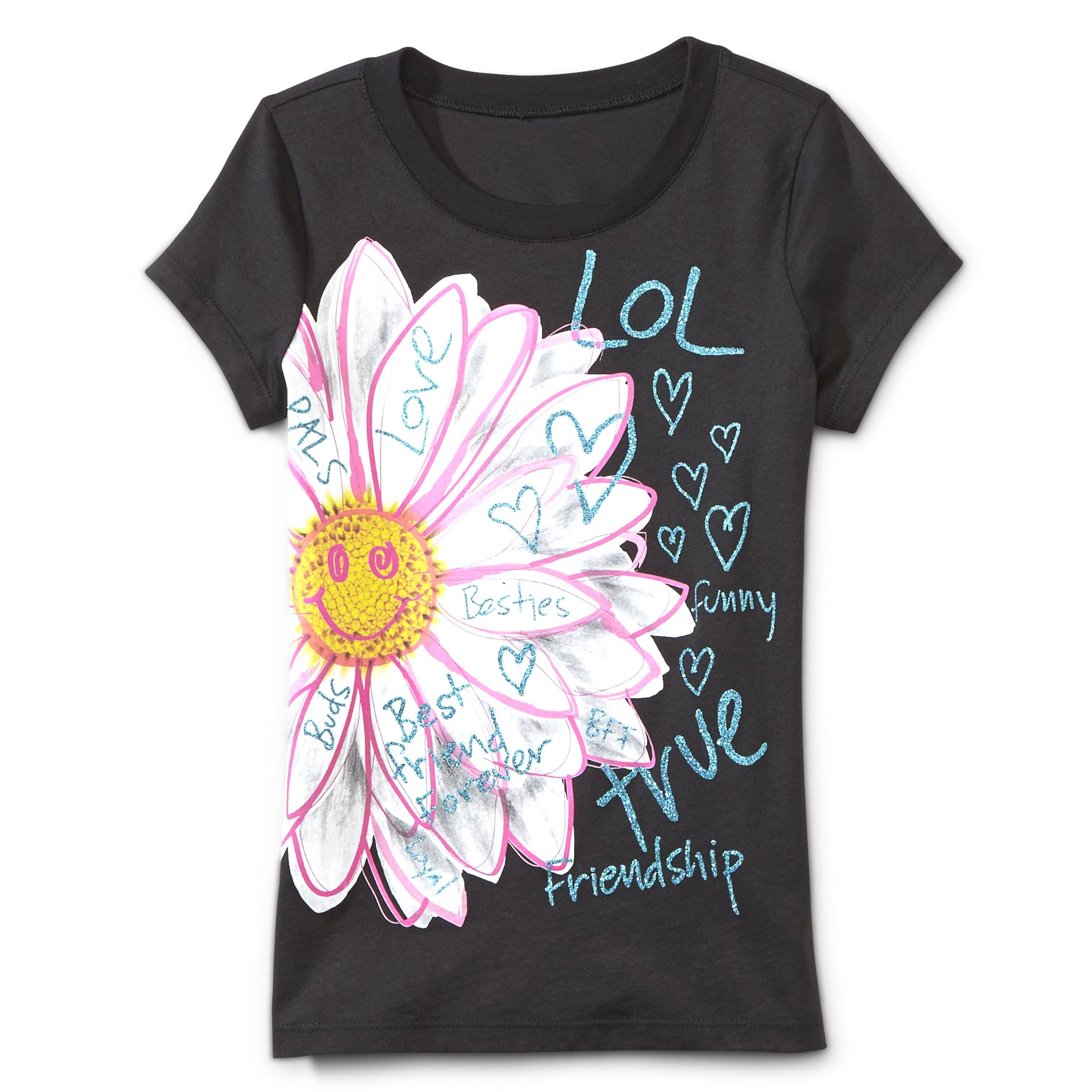 Route 66 Girl's Graphic T-Shirt - Flower at Kmart.com