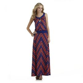 Metaphor Women's Sleeveless Drop Waist Maxi Dress - Chevron at Sears.com