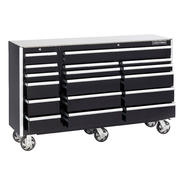 Craftsman EDGE Series 68-In. 17-Drawer Premium Heavy-Duty Ball-Bearing Rolling Cart - Black at Sears.com