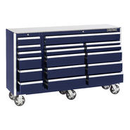 Craftsman EDGE Series 68 In. 17-Drawer Premium Heavy-Duty Ball-Bearing Rolling Cart - Midnight Blue at Sears.com