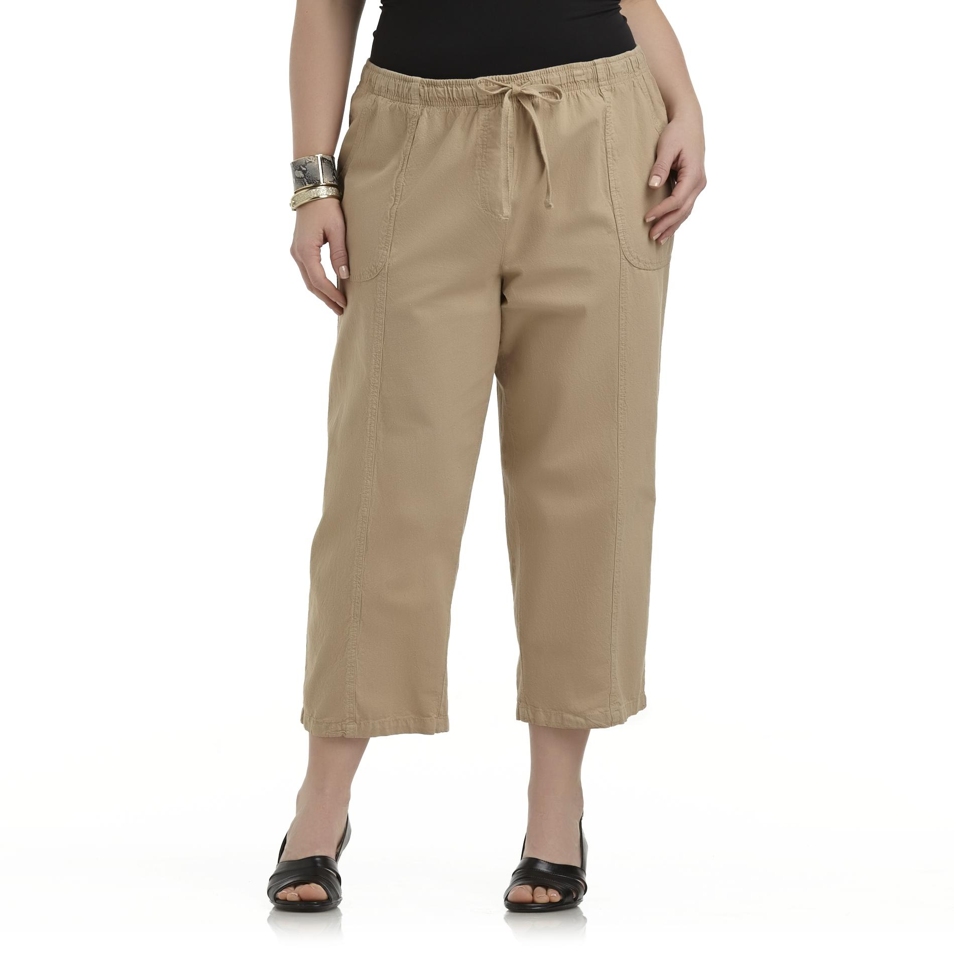 Laura Scott Women's Plus Cropped Casual Pants at Sears.com