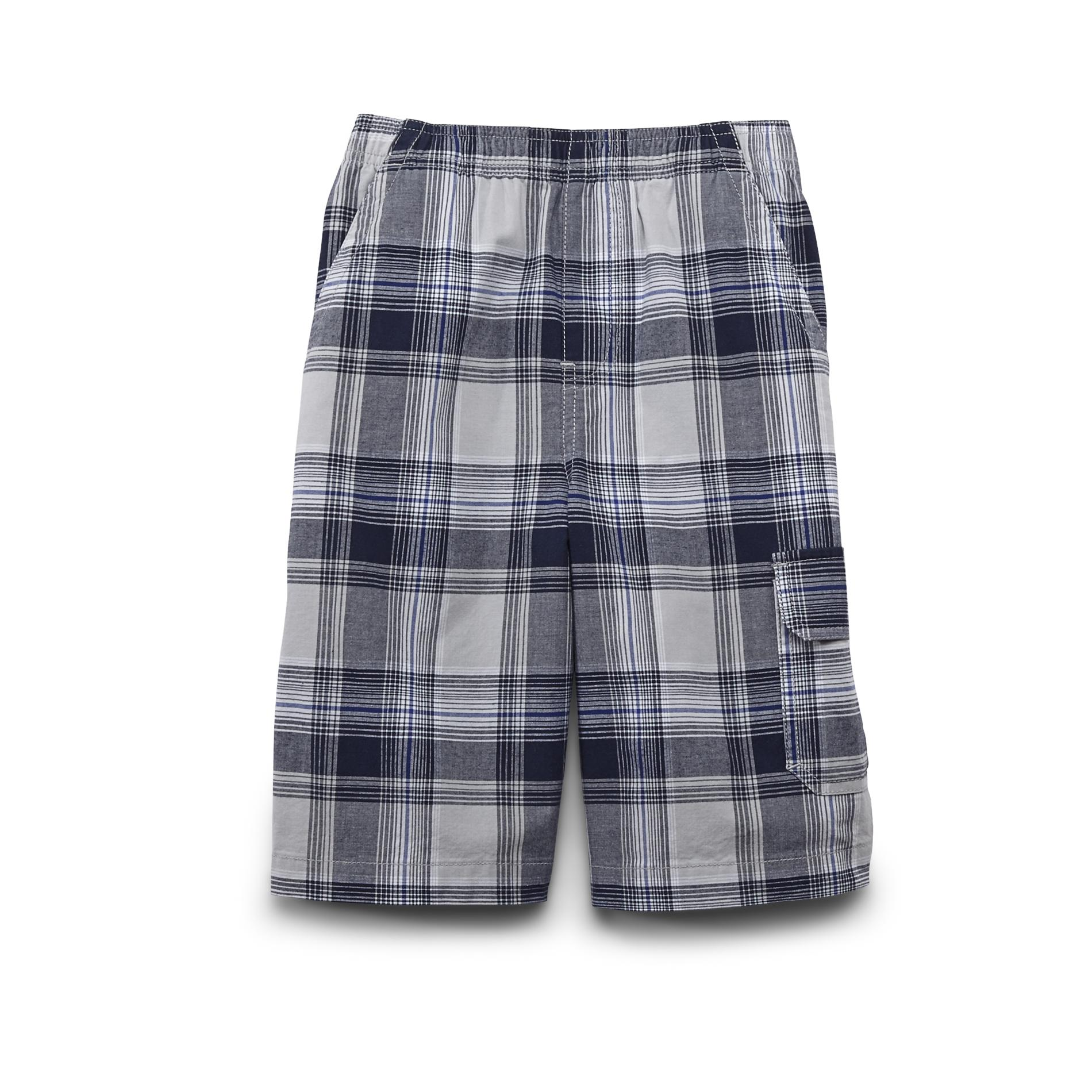 Basic Editions Boy's Woven Shorts - Plaid at Kmart.com