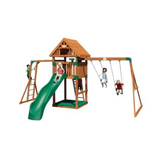 backyard discovery capitol peak wooden swingset toys games