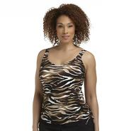 Tropical Escape Women's Plus Tankini Top - Animal Print at Sears.com