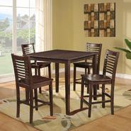 Dorel Asia 5 Piece Dark Walnut Counter Height Dining Set at Kmart.com