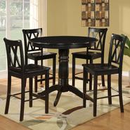Dorel Asia 5 Piece Black Counter Height Pedestal Dining Set at Kmart.com