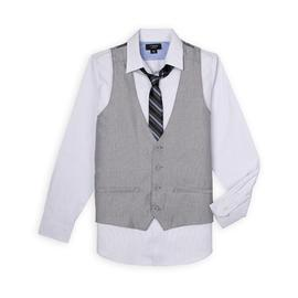 Attention Men's Dress Shirt, Vest, & Necktie - Striped at Kmart.com