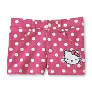 Hello Kitty Girl's Colored Denim Shorts - Polka Dots at Sears.com
