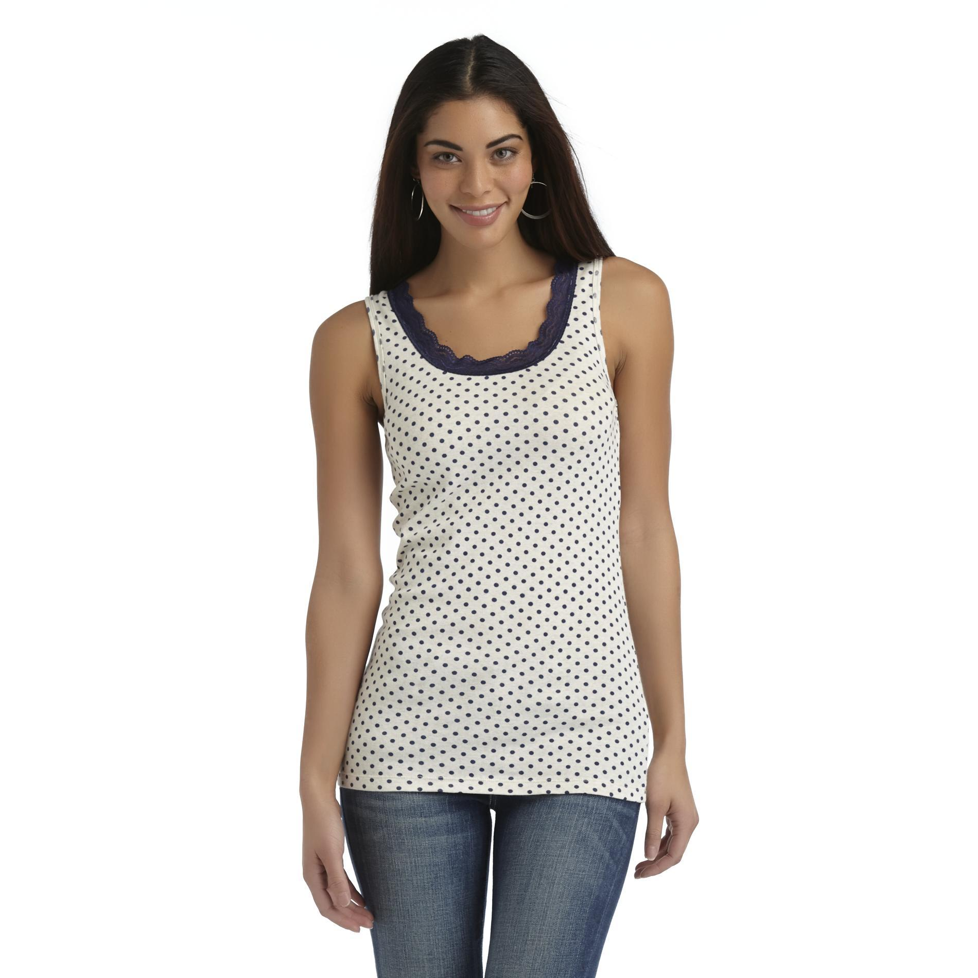 Canyon River Blues Women's Ribbed Tank Top - Polka Dots at Sears.com